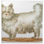 sistema del regalo del arte del buffon del perro servilleta