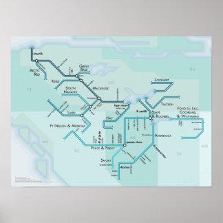Sistema del río Mackenzie, 15 x 20 Póster