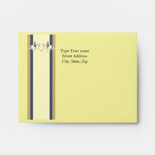 Sistema del sobre de la tarjeta de encargo de Deco