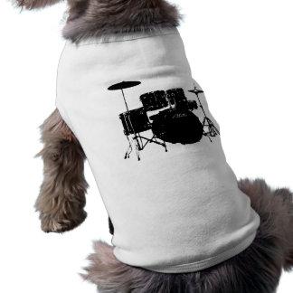 Sistema del tambor playera sin mangas para perro