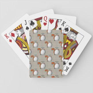 Sistema del tambor; Tambores anaranjados Cartas De Póquer