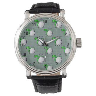 Sistema del tambor; Tambores verdes de neón Relojes De Mano
