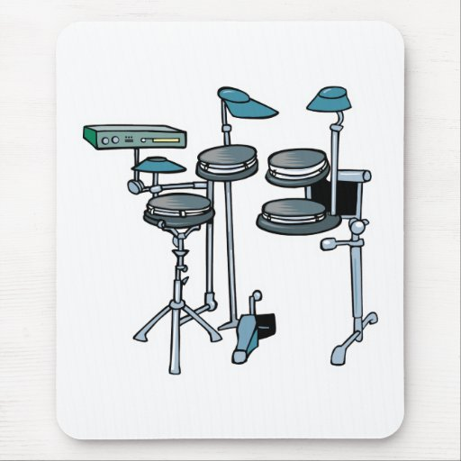 sistema electrónico del tambor alfombrillas de ratones