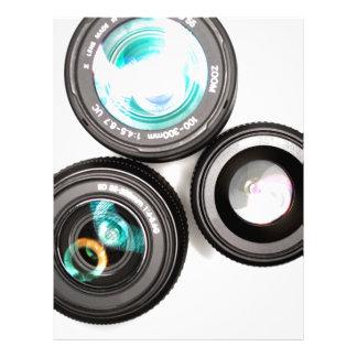 sistema enrrollado de la lente de la fotografía membrete personalizado