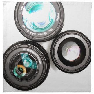 sistema enrrollado de la lente de la fotografía servilleta imprimida