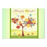 Sistema feliz del pájaro del árbol de Pascua Anuncio Personalizado