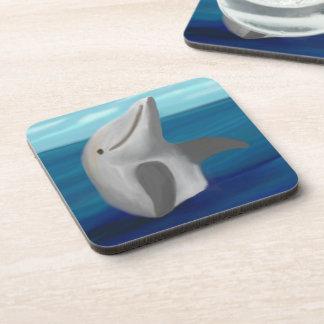 Sistema feliz del práctico de costa del delfín posavaso