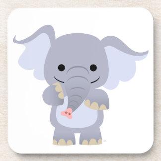 Sistema feliz del práctico de costa del elefante d posavasos de bebidas