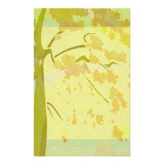 Sistema floral del paraíso del otoño papelería de diseño