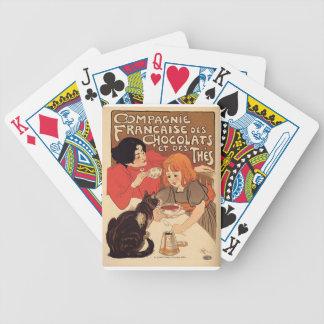 Sistema francés del poster de naipes barajas de cartas