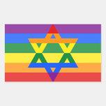 Sistema gay del pegatina del judío