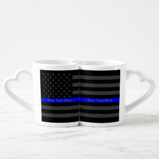 Sistema gris fino personalizado de la bandera de taza para enamorados