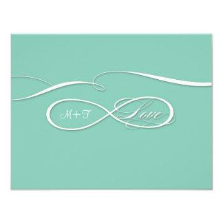 """Sistema infinito del boda del amor de la muestra invitación 4.25"""" x 5.5"""""""