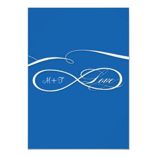 """Sistema infinito del boda del amor de la muestra invitación 5"""" x 7"""""""
