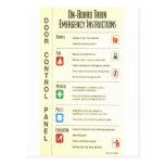 Sistema inmóvil de las instrucciones de la emergen postales