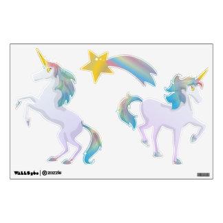 Sistema ligero lindo del unicornio del arco iris vinilo adhesivo