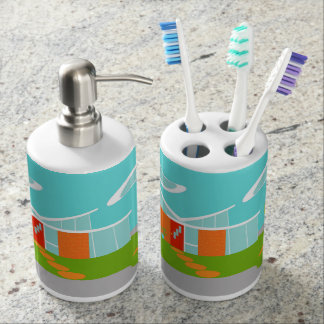 Sistema moderno del baño de la casa del dibujo accesorios de baño
