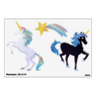 Sistema negro y ligero lindo del unicornio del arc