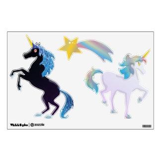 Sistema negro y ligero lindo del unicornio del arc vinilo decorativo