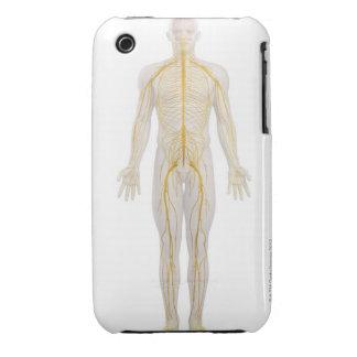 Sistema nervioso humano 2 carcasa para iPhone 3