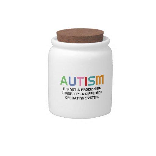 Sistema operativo del autismo jarras para caramelos