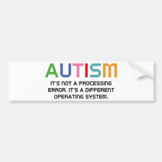 Sistema operativo del autismo pegatina para auto