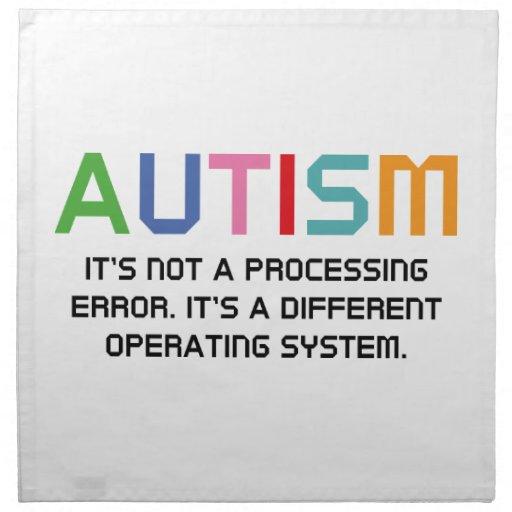 Sistema operativo del autismo servilletas de papel