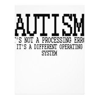 """Sistema operativo """".png del autismo membretes personalizados"""
