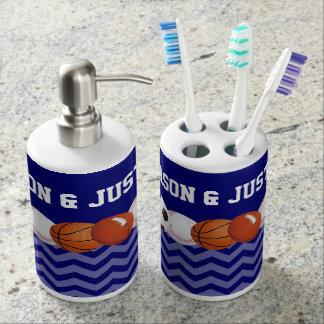 Sistema personalizado bolas del baño de los deport conjunto de baño