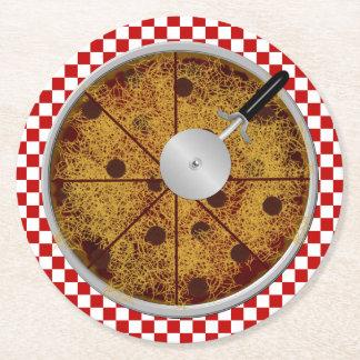 Sistema Pizza-Redondo del práctico de costa de los Posavasos De Cartón Redondo