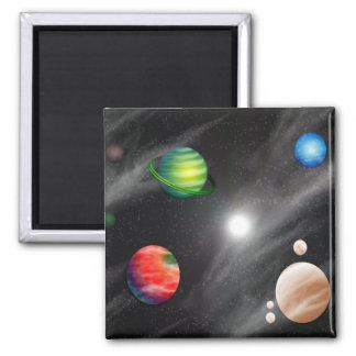 Sistema planetario imán cuadrado