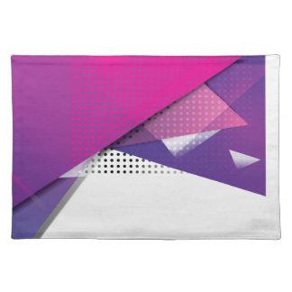 Sistema púrpura de la tendencia de la impresión mantel individual