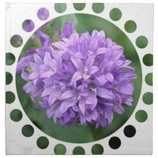 Sistema púrpura del Phlox de cuatro servilletas