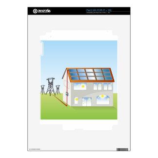 Sistema residencial del panel solar iPad 2 calcomanía