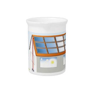 Sistema residencial del panel solar jarra de beber