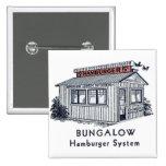 Sistema retro de la hamburguesa de la casa de plan pins