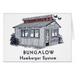 Sistema retro de la hamburguesa de la casa de plan tarjetas