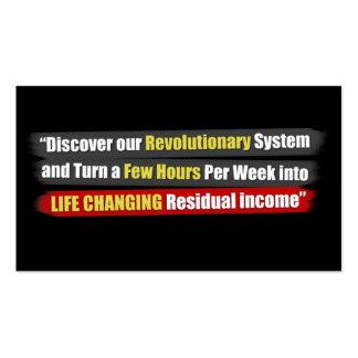 Sistema revolucionario tarjetas de visita