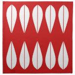 Sistema rojo del estilo del vintage de Cathrinehol Servilleta Imprimida