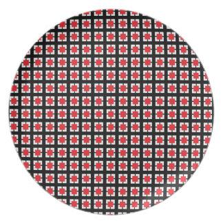 Sistema rojo y negro de Ktichen del modelo de la t Platos De Comidas