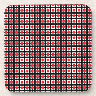 Sistema rojo y negro de Ktichen del modelo de la t Posavasos