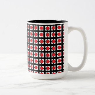 Sistema rojo y negro de Ktichen del modelo de la Taza De Dos Tonos