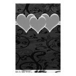 Sistema romántico estrellado del blanco  papeleria de diseño