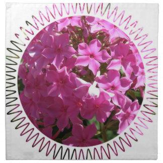 Sistema rosado del Phlox de cuatro servilletas