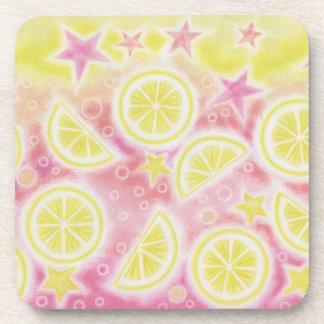 Sistema rosado del práctico de costa de la limonad posavaso