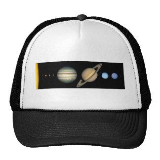 Sistema solar a la escala - Solar System scale Gorras De Camionero