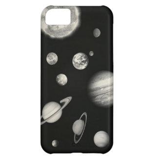 Sistema Solar blanco y negro en el espacio Funda Para iPhone 5C