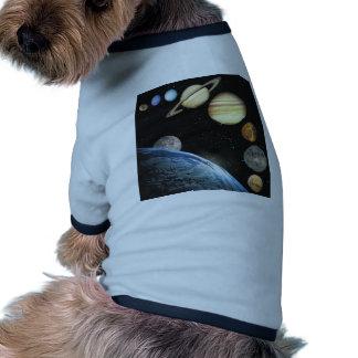 sistema solar camisetas para caes