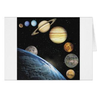 sistema solar cartão