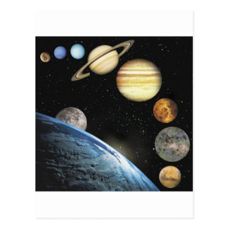 sistema solar cartão postal